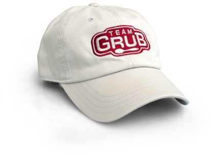 Provo logo graphic design team grub embroidered on a hat