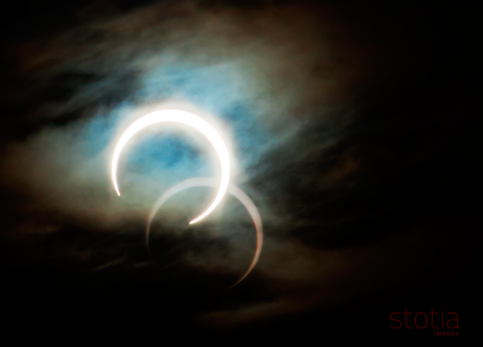 caption Annular solar eclipse taken in Holden Utah