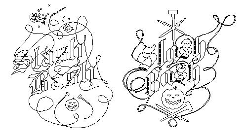 Early renderings of the Slash Bash logo