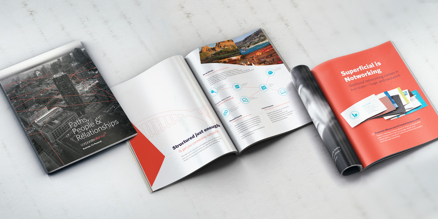 Large scale brochure design