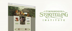 Logo and site design for Timpanogos Storytelling Institute