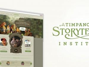 Logo and site design for Timpanogos Storytelling Institute